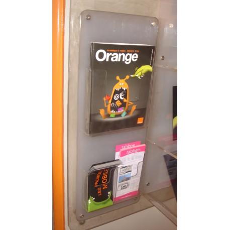 Porte fiches Murales Orange