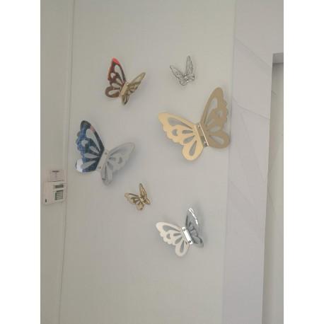 Papillons Décor Plexiglas Miroir