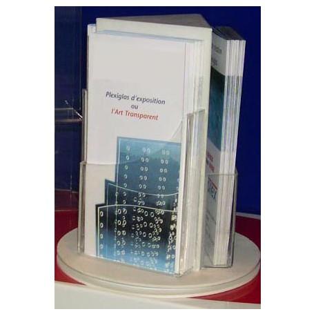 Porte Brochures Triangle sur Pied Tournant