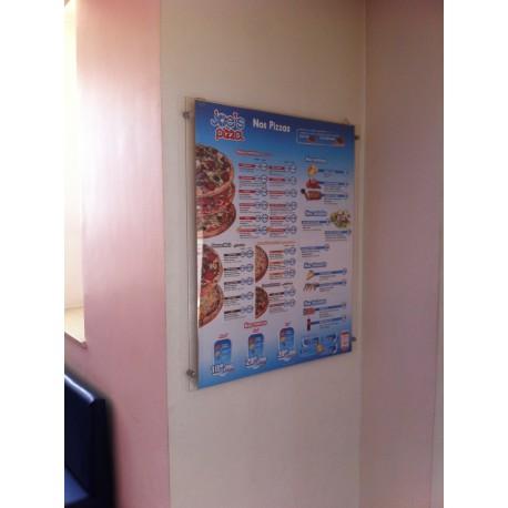 Porte Poster Mural avec Distanceurs