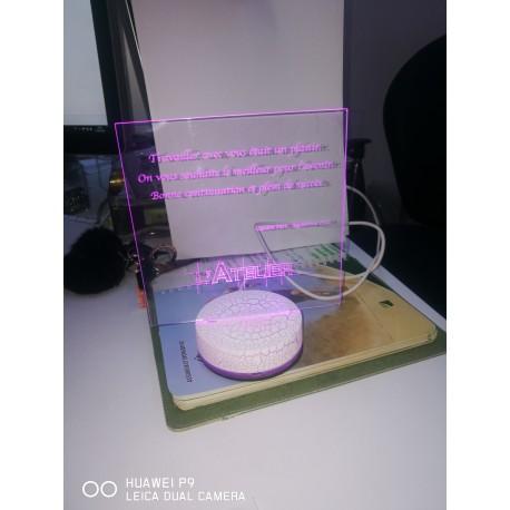 Gravure laser éclairage LED