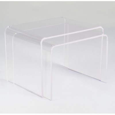 Table Basses Gigogne En Plexiglas Transparent