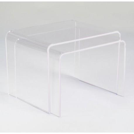 Table basses Gigogne en plexiglas transparent