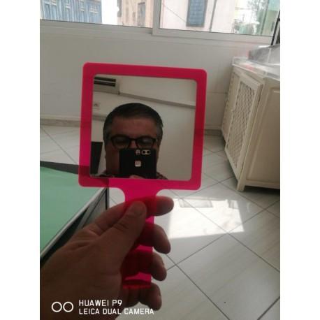 Miroir plexiglas fluo