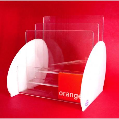 Porte Dépliant Triple Orange