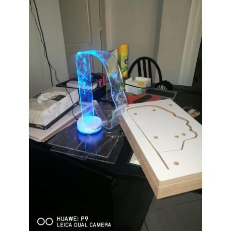 Tête avec éclairage LED